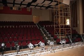 Nevis Performing Arts Center stage and seating