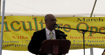Premier of Nevis, Hon. Joseph Walcott Parry at Agricultural Fair