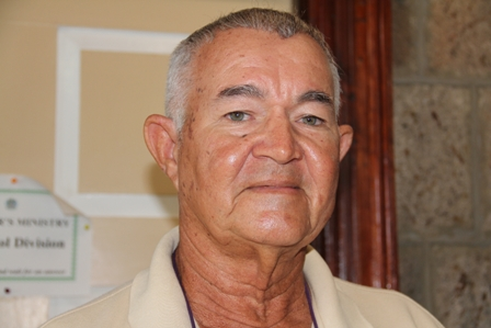 Former Director of Fisheries on Nevis who was instrumental in the initial plans for construction of the new Charlestown Community Fisheries Complex at Gallows Bay Captain Arthur Anslyn pledges support for the project