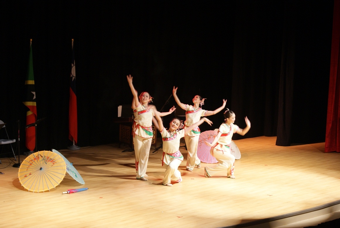 Dancers from the National Taiwan University of Arts put on a show at the Nevis Performing Arts Centre on April 30, 2012