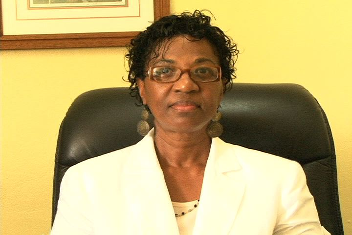Permanent Secretary in the Premier's Ministry, Nevis Island Administration Mrs. Joslyn Liburd at her Bath Plain Office