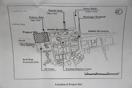 Location of the new Fisheries Complex in Charlestown project site