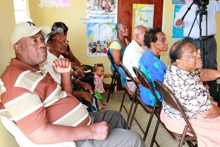 More Combermere Diabetic Association members listen attentively to Minister of Health