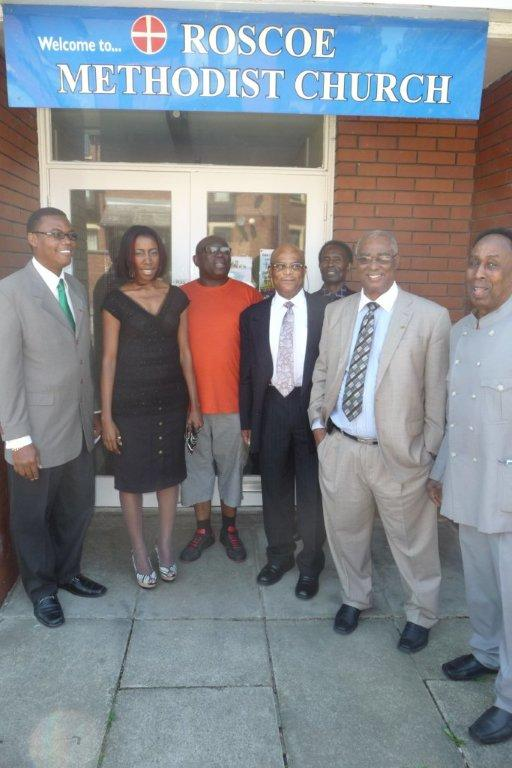 Nevis delegation at Roscoe Methodist Church