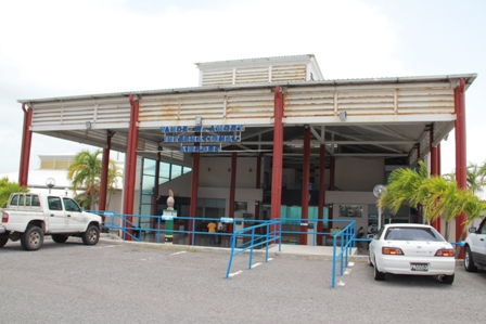 The entrance from the car park of the Vance Amory International Airport at Newcastle