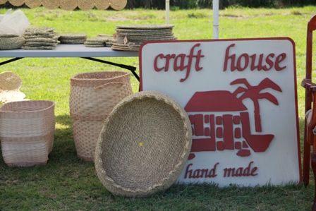 Some craft items made at the Nevis Craft House by local artisans on display at the Nevis Craft House Exposition will soon be available online
