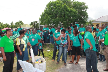A section of parents and children gathering for the Child Month Parade 2012 on Friday June 22, 2012
