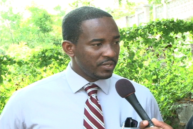 Tax Policy Analysis/Public Relations Officer and Economist at the Inland Revenue Department St. Kitts Mr. Gary Thomas during a recent visit to Nevis to lend support to the Inland Revenue Department on Nevis' Property Tax awareness drive
