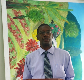 Director of Agriculture on Nevis Mr. Keithley Amory