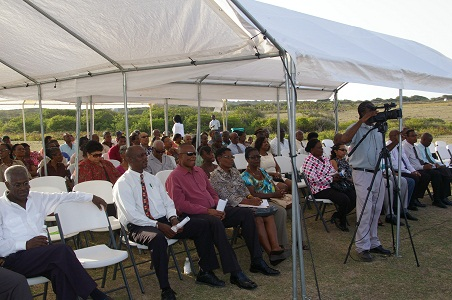 Audience at the ground breaking ceremony