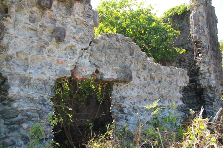 Fresh hollows in the walls at the historical Eden Brown Heritage Site show areas where stones have been removed