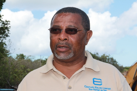 Project Manager for the Nevis Water Enhancement Project funded by the Caribbean Development Bank Mr. George Morris at the Spring Hill site