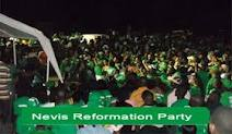 Nevis Reformation Party supporters