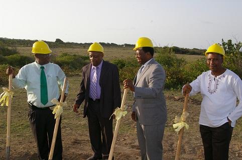 Premier Parry, Minister of Health, Hon. Hensley Daniel , Mr. Don Williams and Dr, Glenville Liburd