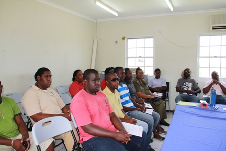 Participants at the Agri-business Workshop at Prospect hosted by the Caribbean Agricultural Research and Development Institute and the Department of Agriculture on Nevis