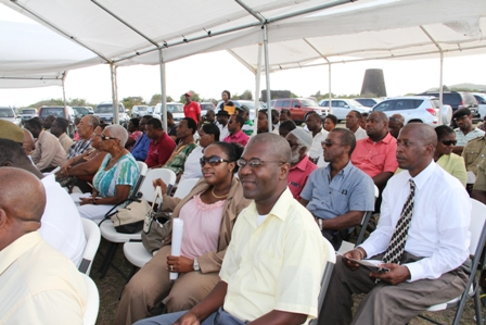 A section of persons present at the ground breaking ceremony for the New River Medical Centre