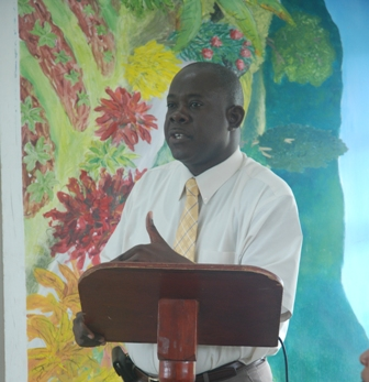 Minister of Agriculture in the Nevis Island Administration Hon. Robelto Hector