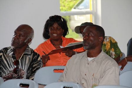 Taxi and tour bus operators at the first training session by the Ministry of Tourism at the Cotton Ground Community Centre recently
