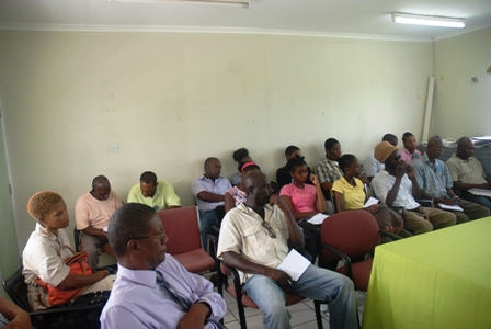 Some of those present at the Caribbean Agriculture Research and Development Institute seminar