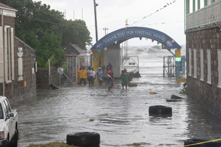 Hurricane Omar's visit to Nevis in 2008 at the Charlestown Pier (file photo)