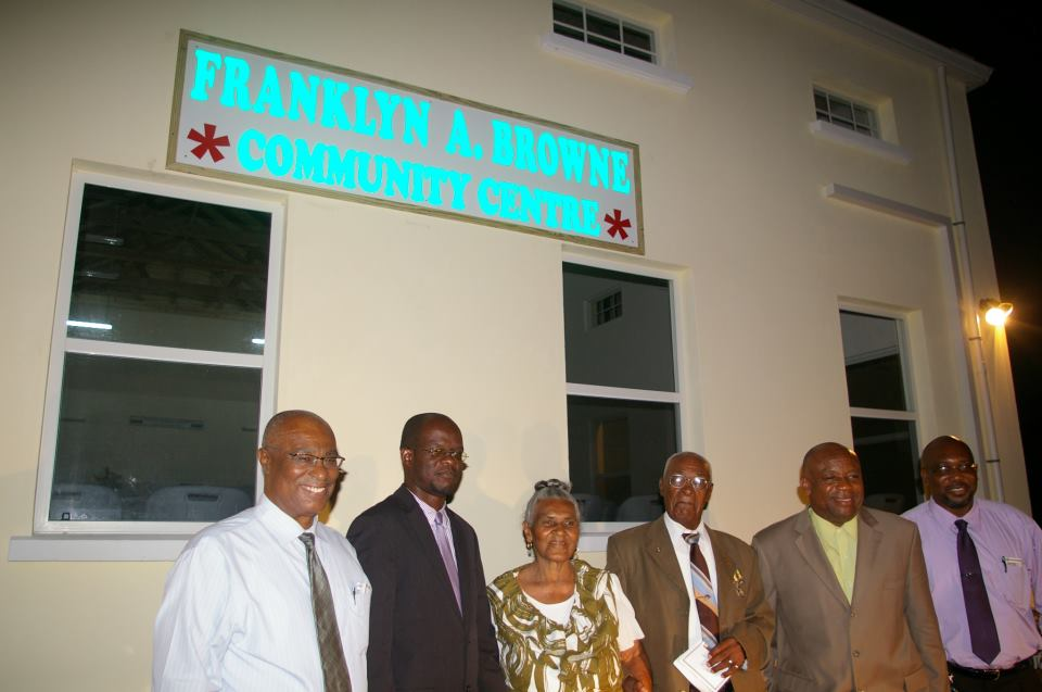 Premier of Nevis,Hon. Joseph Parry, Attorney General- Hon. Patrice Nisbett, Lorraine and Franklin Browne, Deputy   Hon. Hensley Daniel and Minister of Communications and Works, Hon. Carlisle Powell