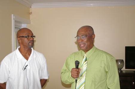 (L-R) the Nelson Spring Development -Hamilton Project Manager, Mr. Carl Lewis with Premier of Nevis, Hon. Joseph Parry