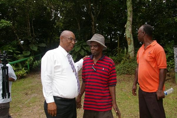 Premier of Nevis, Hon. Joseph Parry with Peak Haven Owner, Mr. Edward Herbert