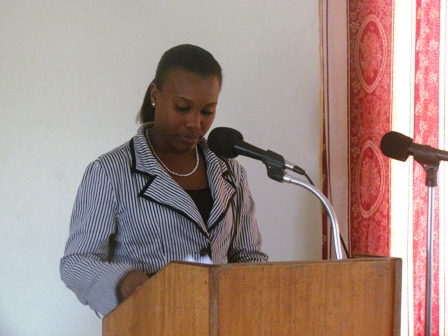 Youth Services Coordinator in the Ministry of Social Development's Youth Affairs Division on Nevis Mrs. Diane Pemberton