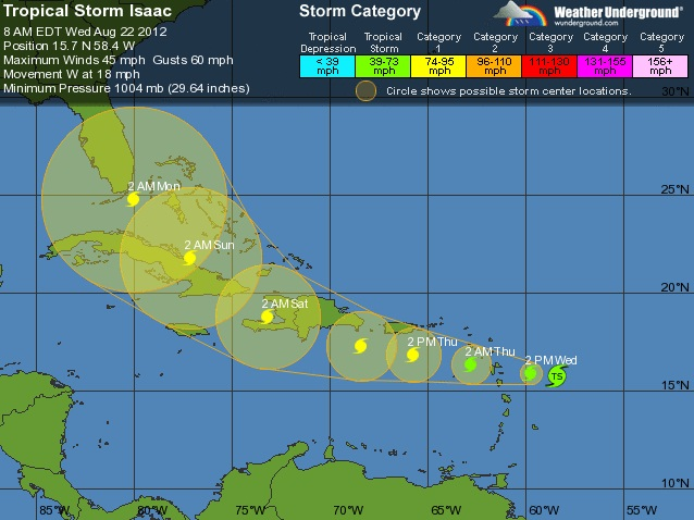 Tropical Strom Isaac