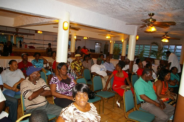 Audience at Public meeting hosted by the Nevis Island Administration