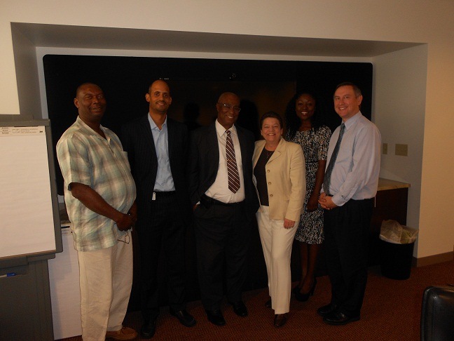 Premier of Nevis, the Hon. Joseph Parry( third from left) with his delegation and officials of the Cruise industry