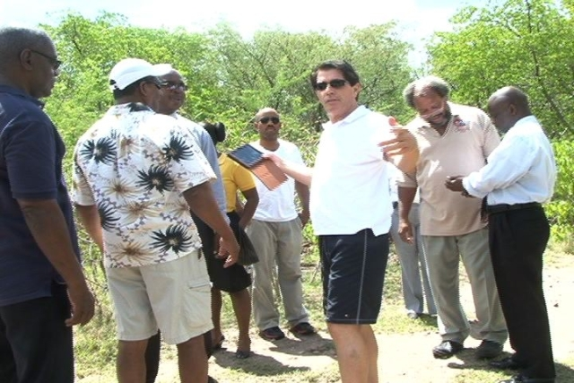 Executives of Canadian Global Investments with on a site visit to Pembroke Estate with stake holders in the Nevis Island Administration