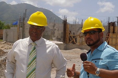 Premier of Nevis, Hon. Joseph Parry and local investor, Mr. Greg Hardtman