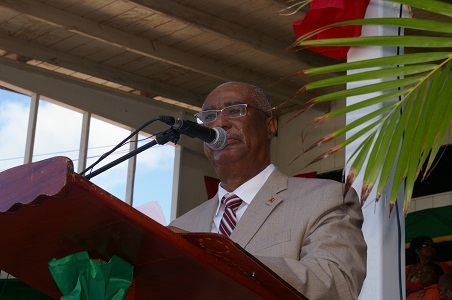 Premier of Nevis, Hon. Joseph Parry during the 29th Independence ceremony
