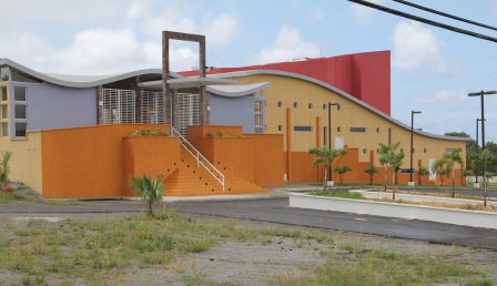 The state of the art $14.5 million Nevis Performing Arts Centre at Pinneys. It was funded by the Government of the Republic of China (Taiwan) and the Sugar Industry Diversification Foundation and the Nevis Island Administration