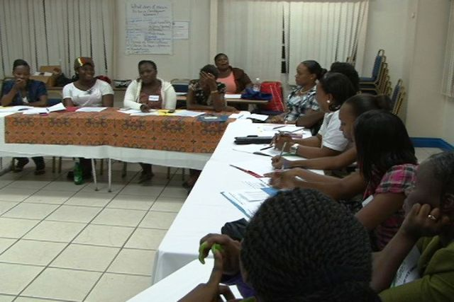 A section of participants in attendance at the second ongoing Sisters Informing Sisters about Topics on AIDS (SISTA) workshop at the Red Cross Conference Room in Charlestown, Nevis