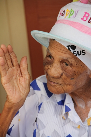 Mrs. Selina Ward of Camps Village celebrating her 101st birthday
