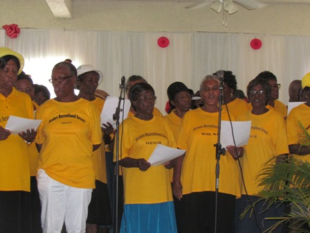 A section of the Older Persons on Nevis at the annual luncheon hosted by the Ministry of Social Development Senior Citizens Division on October 1st to mark the United Nations designated International Day of Older Persons
