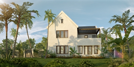 Rendering of a villa (front) at the Four Seasons Resort Estates US$60 million Villas at Pinneys Beach project