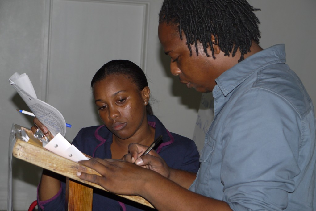 Youth Services Coordinator Diana Pemberton and Senior Youth Officer Pierre Liburd worked closely to implement CEBO training in Nevis