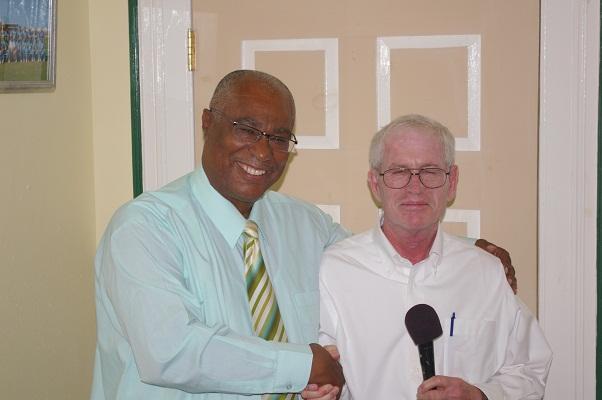 Premier of Nevis, Hon. Joseph Parry and CCC President Mr. Lee Bertman
