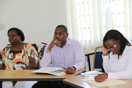 More participants at the Marine Protection Awareness Workshop at the Nevis Cooperative Conference Room in Charlestown on October 31, 2012