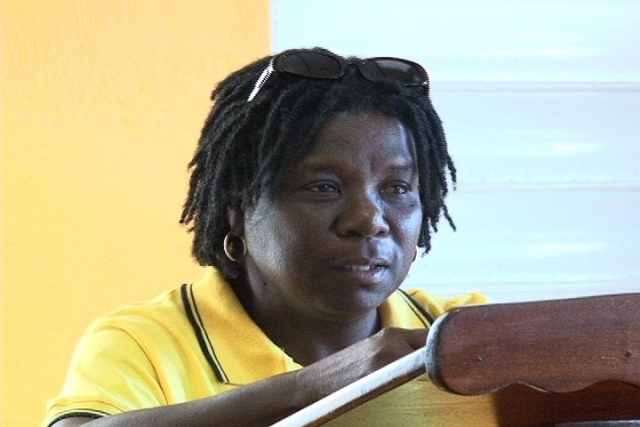 General Manager of the Nevis Craft House Ms. Dorette Daniel
