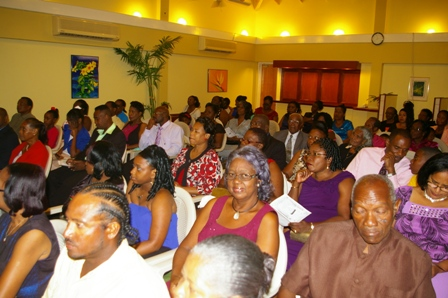 Some of those present at the 7th Annual Teachers Awards and Recognition Ceremony at the Mount Nevis Hotel