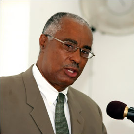 Nevis Premier, Hon. Joseph Parry in the Nevis House of Assembly (File photo)
