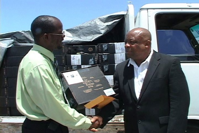 Attorney General of St. Kitts- Nevis- Hon. Patrice Nisbett and Special Advisor, Mr. Hensley Daniel (File photo)