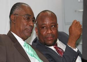 Premier of Nevis, Hon. Joseph Parry and former Minister of Sports, Mr. Hensley Daniel
