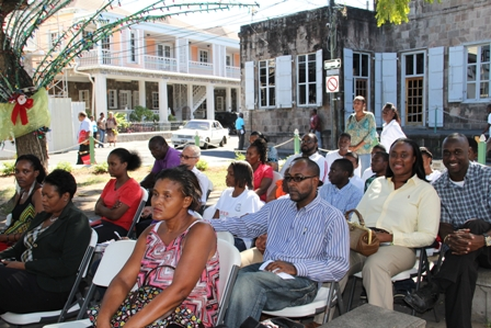 Persons present at the launch among them prospective employees, employers and volunteers at the People Empowerment Program on Nevis