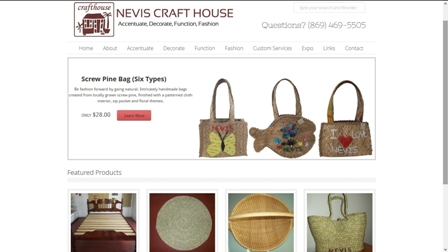 The new marketing tool launched for the Nevis Craft House on the information super highway