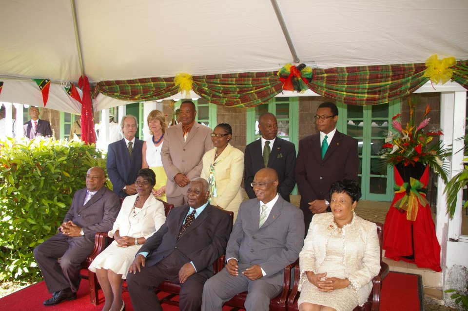 Mr. Alistair Yearwood and his wife Mrs Clair Yearwood, Mr. Zed Hanley and Mrs. Patsy Hanley, Mr. Ashley Farrell, Hon. Dwight Cozier, Mr. Hensley Daniel, Mrs. Christine Springette, His Excellency, Dr. Sir. Cuthbert Sebastian, Hon. Joseph Parry and Mrs. Sonita Daniel
